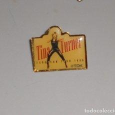 Pins de colección: PIN MÚSICA ROCK TINA TURNER - GIRA EUROPEAN TOUR 1996 - GIRA EUROPEA - TDK. Lote 172725269