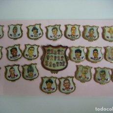 Pins de colección: PINS COLECCION DE 21 PINS Y UNO GRANDE DEL C.F. BARCELONA TEMPORADA 94-95. Lote 174040923