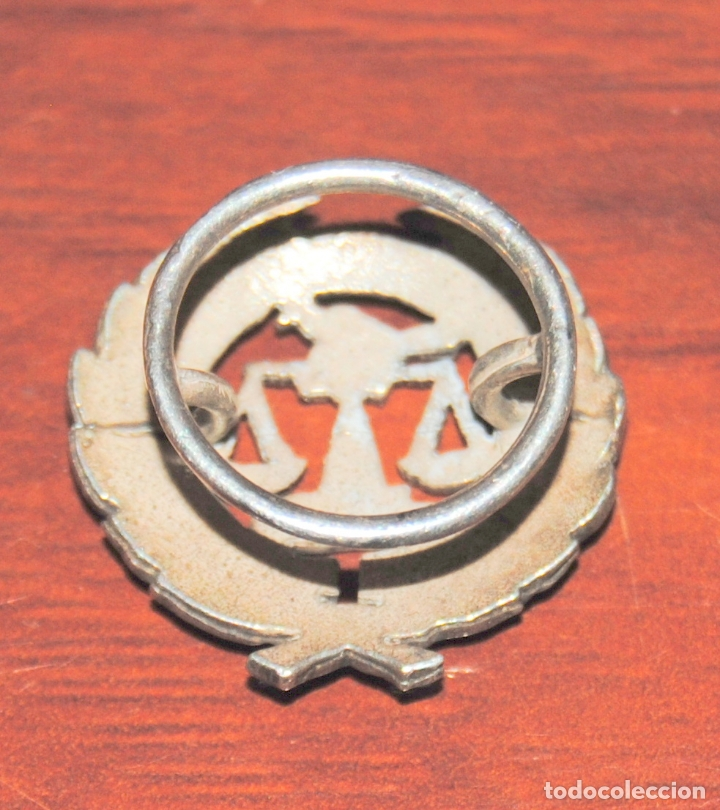 Pins de colección: MAGNIFICA INSIGNIA DE SOLAPA ASOCIACION ESPAÑOLA DE INVESTIGADORES COMERCIALES ASEIC PLATA ??? - Foto 2 - 174333693