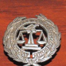 Pins de colección: MAGNIFICA INSIGNIA DE SOLAPA ASOCIACION ESPAÑOLA DE INVESTIGADORES COMERCIALES ASEIC PLATA ???. Lote 174333693