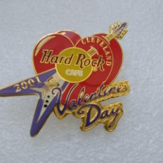 Pin's de collection: PIN HARD ROCK CAFE CLEVELAND 2001 DIA SAN VALENTIN. Lote 175634559