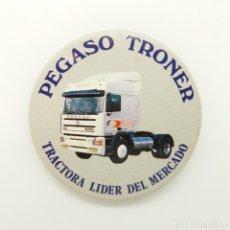 Pins de colección: CHAPA DE ALFILER PEGASO TRONER TRACTORA LIDER DEL MERCADO. Lote 187219080