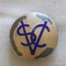 Pins de colección: ANTIGUO BOTÓN O PIN IDENTIFICACIÓN DE SOCIOS SORTING CLUB VALPARAISO EN METAL CON BAÑO DE PLATA . Lote 176085233