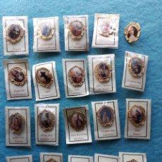 Pins de colección: LOTE DE 20 PINS TEMÁTICA RELIGIOSA. VÍRGENES / SANTOS.. Lote 176838203