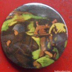 Pins de colección: PINTURA DE LA GUERRA CIVIL EN EUSKADI. CHAPA NUEVA DE 57 MM. Lote 177028759