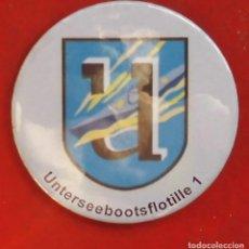 Pins de colección: UNTERSEEBOOTSFLOTILLE Nº 1 CHAPA NUEVA DE 57 MM. Lote 177029213