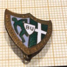 Pins de colección: PIN ALFILER CLUB FÚTBOL MARQUÉS DE BOLARQUE GUADALAJARA. Lote 177032338
