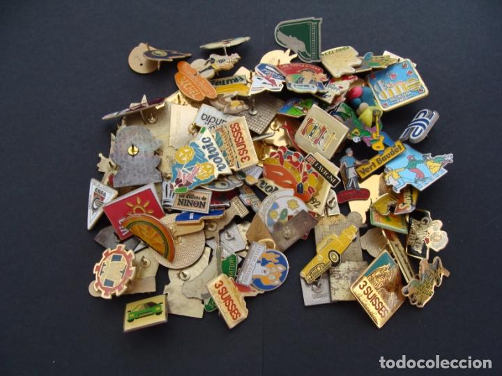 COLECCIÓN DE 100 PINS - VARIAS TEMÁTICAS, DEPORTES, BARES, MARCAS, AÑOS 70 80 - SALIDA 0,01€ (Coleccionismo - Pins)