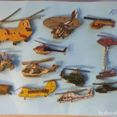 Pins de colección: LOTE 12 PINS - HELICOPTEROS. Lote 177517603