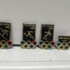 Pins de colección: LOTE 4 PINS PIN DE AGUJA OLIMPIADAS BARCELONA 92. Lote 177623694
