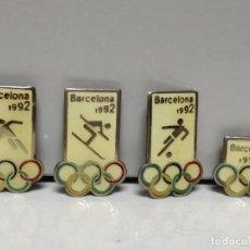 Pins de colección: LOTE 4 PINS PIN DE AGUJA OLIMPIADAS BARCELONA 92. Lote 177623702