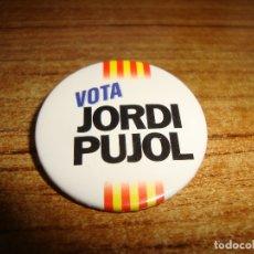 Pins de colección: (TC-230/19) CHAPA PIN AGUJA TEMA POLITICO VOTA JORDI PUJOL. Lote 177734572