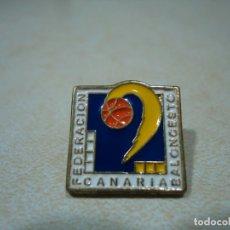 Pins de colección: 76-PIN FEDERACIÓN CANARIA DE BALONCESTO-AÑOS 80. Lote 178899333