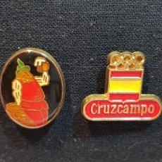 Pins de colección: 76-LOTE 2 PINS CRUZCAMPO - OLIMPIADAS 1992. Lote 178902990