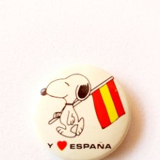 Pins de colección: SNOOPY ESPAÑA CHAPA AÑOS 80. Lote 179001842