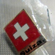 Pins de colección: PIN DE SUIZA. PABELLON OFICIAL DE SUIZA EN LA EXPO 2008 DE ZARAGOZA. Lote 179091148