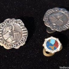 Pins de colección: 3 INSIGNIAS PIN ORFEÓ ATLANTIDA. Lote 179248302