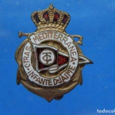 Pins de colección: INSIGNIA SOLAPA. COMPAÑÍA TRANSMEDITERRANEA. BUQUE INFANTE DON JAIME. MALLORCA. BALEARES. Lote 180134596