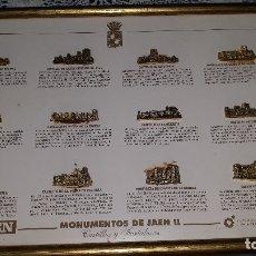 Pins de colección: MONUMENTOS DE JAEN II-CUADRO DE FIGURAS DE METAL DORADO- CASTILLOS Y FORTALEZAS DE JAEN. Lote 180182350