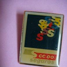 Pins de colección: PINS DE CC.OOO. SEGUROS. Lote 180274257