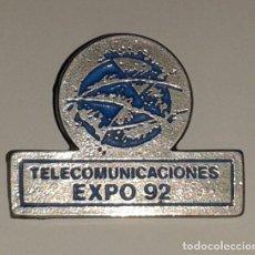 Pins de colección: PIN PABELLÓN TELECOMUNICACIONES EXPO 92. EXPO92. 1992. Lote 182901442