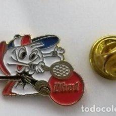 Pins de colección: PIN PUBLICIDAD PRODUCTOS ALIMENTICIOS DHUL . DEPORTE ,TENIS.. Lote 183895516