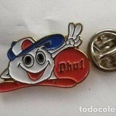 Pins de colección: PIN PUBLICIDAD PRODUCTOS ALIMENTICIOS DHUL .. Lote 183895790