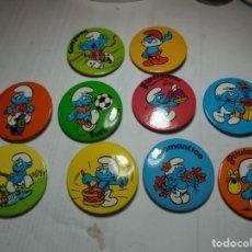 Pins de colección: MAGNIFICOS 10 PINS DE AGUJA ANTIGUOS DE LOS PITUFOS DE PEYO. Lote 185306773