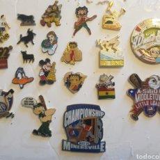 Pins de colección: LOTE DE 20 PINS PIN VARIADOS MIRA FOTOS. Lote 186290125