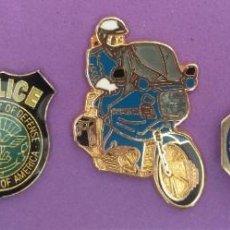 Pins de colección: LOTE DE 5 PINS DE POLICIA. Lote 186317646
