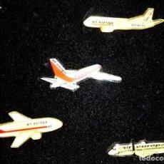 Pins de colección: LOTE DE CUATRO ANTIGUOS PINS DE LA COMPAÑÍA AÉREA AIR EUROPA. Lote 186351236