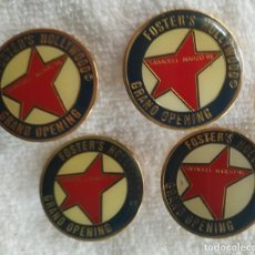 Pins de colección: P 47 LOTE 4 PIN / PIN'S FOSTER'S HOLLYWOOD GRAND OPENING - SABADELL 86. Lote 189426553