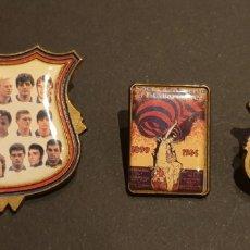 Pins de colección: LOTE 3 PINS F.C BARCELONA. Lote 189769458