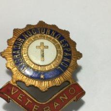 Pins de colección: INSIGNIA ADORADOR NOCTURNO ESPAÑOL VETERANO. Lote 190765242