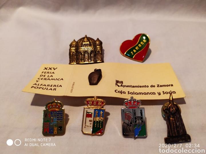 PRECIOSO Y ÚNICO LOTE DE PINS DE LA CIUDAD DE ZAMORA, VER (Coleccionismo - Pins)