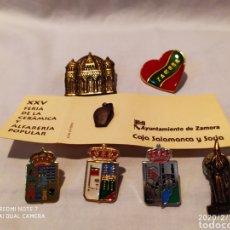 Pins de colección: PRECIOSO Y ÚNICO LOTE DE PINS DE LA CIUDAD DE ZAMORA, VER. Lote 193197030