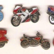 Pins de colección: 6 PIN / PINS DIFERENTES - MOTOS. Lote 194178110