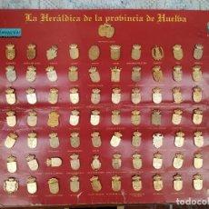 Pins de colección: COLECCIÓN DE PINS HERÁLDICA DE LA PROVINCIA DE HUELVA. Lote 194197758