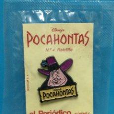Pins de colección: PIN POCAHONTAS EL PERIÓDICO PRECINTADO . Lote 194255758