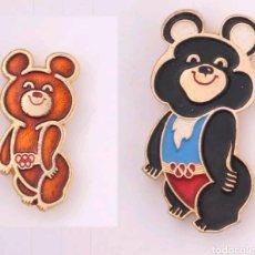 Pins de colección: PINS OLIMPIADA MOSCU 1980 OSITO MISCHA. Lote 194255986