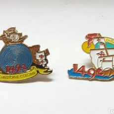 Pins de colección: EXPO 92 PABELLON V CENTENARIO LOTE DE PINS. Lote 194397641