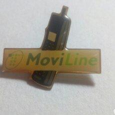 Pins de colección: CURIOSO PIN TELEFÓNICA MOVILINE. Lote 194542616