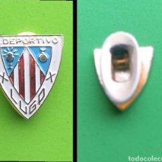 Pins de colección: INSIGNIA DE SOLAPA - FUTBOL - ESCUDO ANTIGUO DEL C. DEPORTIVO LUGO. Lote 194574790