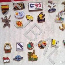 Pins de colección: TUBAL LOTAZO 27 PINS COCA COLA EXPO 92 SEVILLA ETC CURRO BANDERAS ENVIO 2,45 PENINSULA 2020. Lote 194624203