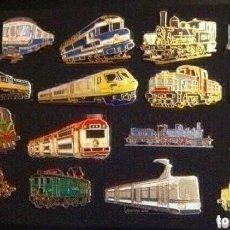 Pins de colección: LOTE 17 PIN O PINS DE TRENES Y LOCOMOTORAS. Lote 194626070