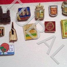Pins de colección: TUBAL LOTAZO 16 PINS CIUDADES DE ESPAÑA ENVIO 2,45 PENINSULA 2020. Lote 194626192