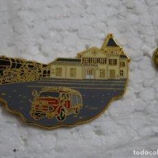 Pins de colección: PIN DE TRENES FERROCARRILES. LUXEMBURGO. ESTACIÓN FERROCARRIL BOMBEROS DE DIEKIRCH. MARCAJE. Lote 194743427