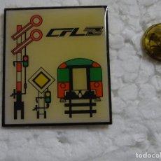 Pins de colección: PIN DE TRENES FERROCARRILES. LUXEMBURGO. SEÑALES FERROVIARIAS CFL. Lote 194743462