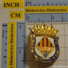 Pins de colección: INSIGNIA BROCHE DEL I CONGRESO NACIONAL DE COMUNIDADES DE REGANTES DE VALENCIA AÑO 1964. NO PIN. Lote 194743530
