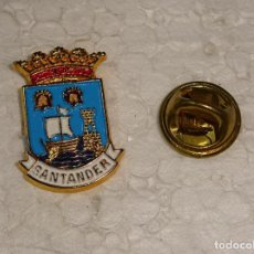 Pins de colección: PIN DE TURISMO HERÁLDICA. ESCUDO HERÁLDICO DE SANTANDER, CANTABRIA. Lote 194901006